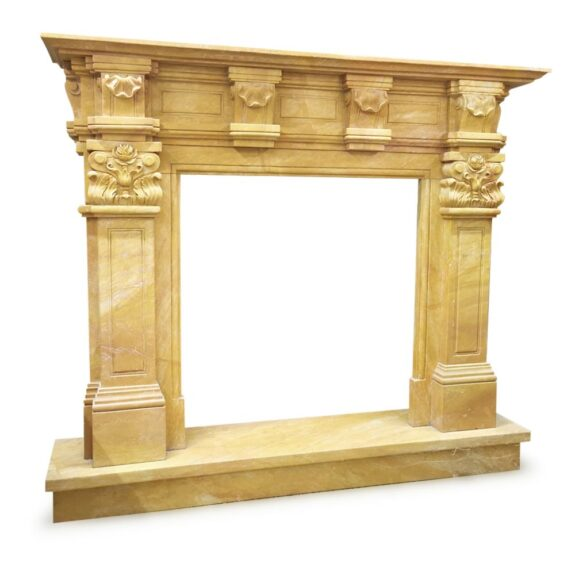 camino-in-marmo-giallo-di-siena-antique-yelloow-marble-fireplace-h130cm-cosebelleantichemoderne-
